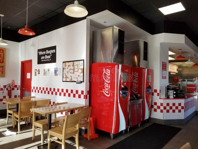 À l'intérieur de l'hamburger de cinq types photo libre de droits
