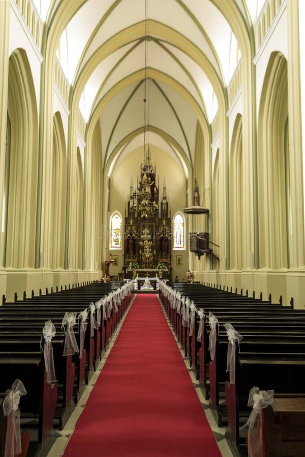 À l'intérieur de l'église image libre de droits