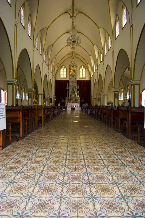 À l'intérieur de l'église photographie stock
