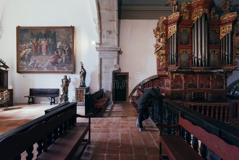 À l'intérieur de la cathédrale de Faro, Algarve, Portugal image libre de droits