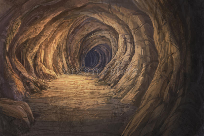 À l'intérieur de la caverne illustration de vecteur