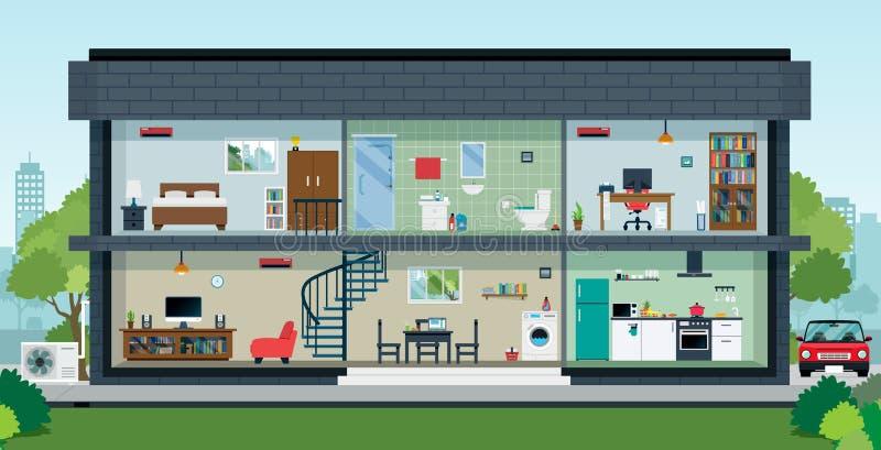 À l'intérieur de la maison illustration stock