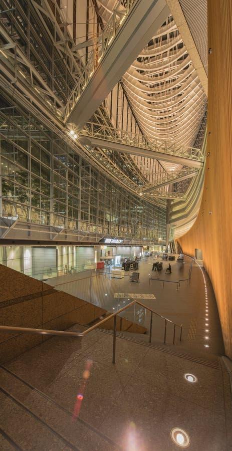 À l'intérieur de la vue du forum international de Tokyo construit en 1996 par Urugua photographie stock libre de droits
