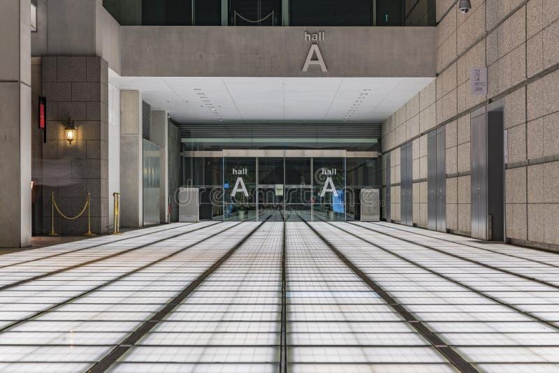 À l'intérieur de la vue du forum international de Tokyo construit en 1996 par Urugua images libres de droits