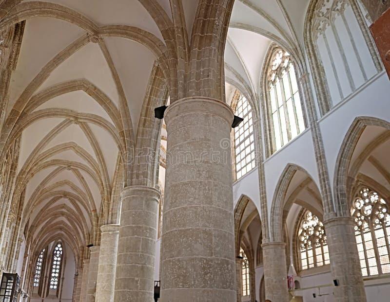 À l'intérieur de Lala Mustafa Pasha Mosque du St Nicholas Cathedral autrefois, Famagusta, Chypre images libres de droits