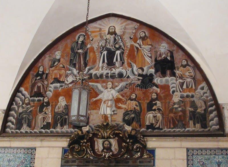 À l'intérieur de le du patriarcat arménien de Jérusalem image stock