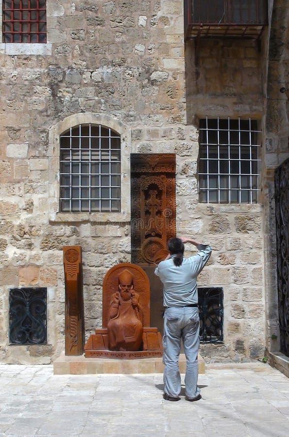 À l'intérieur de le du patriarcat arménien de Jérusalem image libre de droits