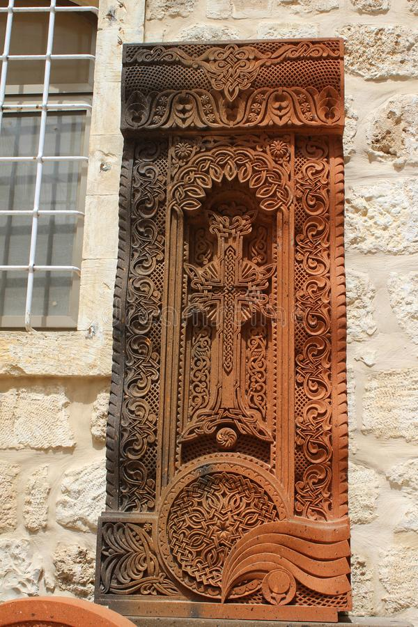 À l'intérieur de le du patriarcat arménien de Jérusalem photo libre de droits