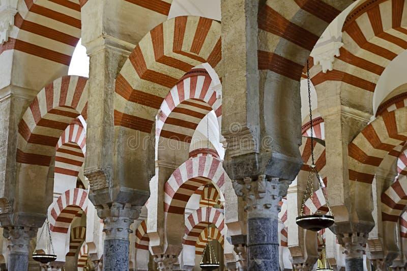 À L Intérieur De Mezquita De Cordoue, L Espagne Images stock