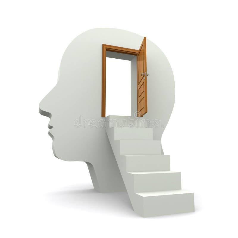 À l'intérieur de votre esprit illustration libre de droits
