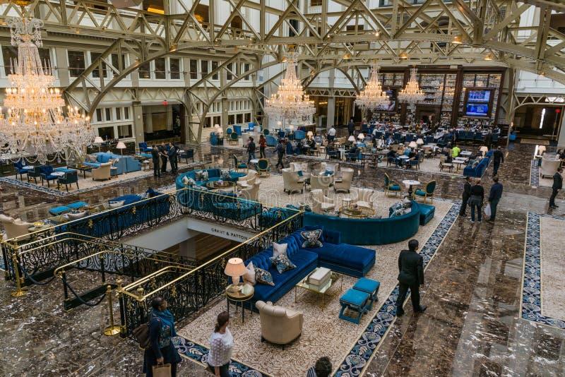À l'intérieur du C.C Novemb de Donald Trump International Hotel Washington photo stock