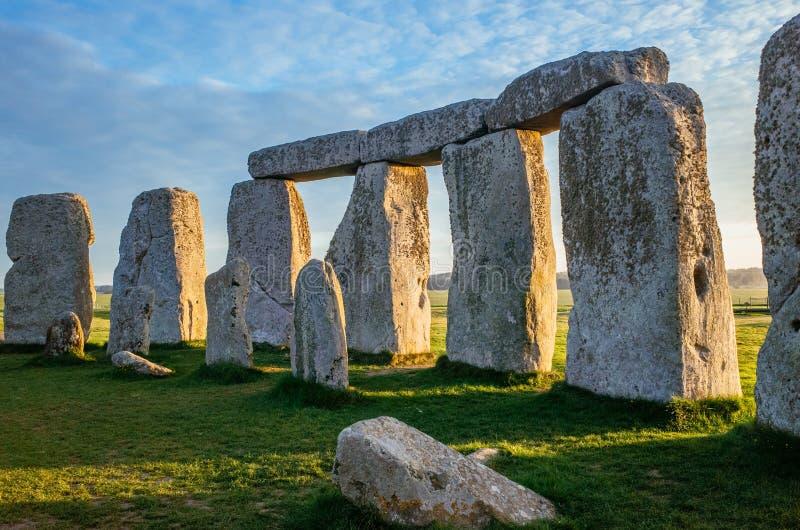À l'intérieur du cercle chez Stonehenge photo stock