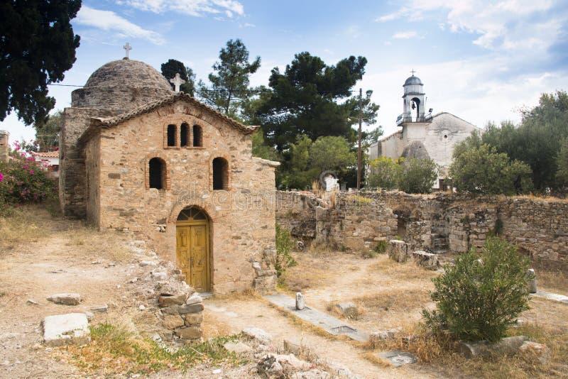 À l'intérieur du château de Koroni, la Grèce photo stock