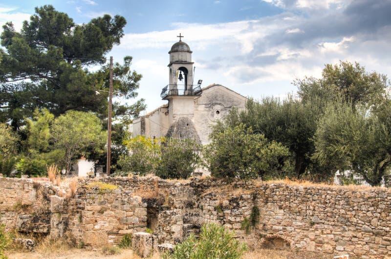 À l'intérieur du château de Koroni, la Grèce photographie stock libre de droits