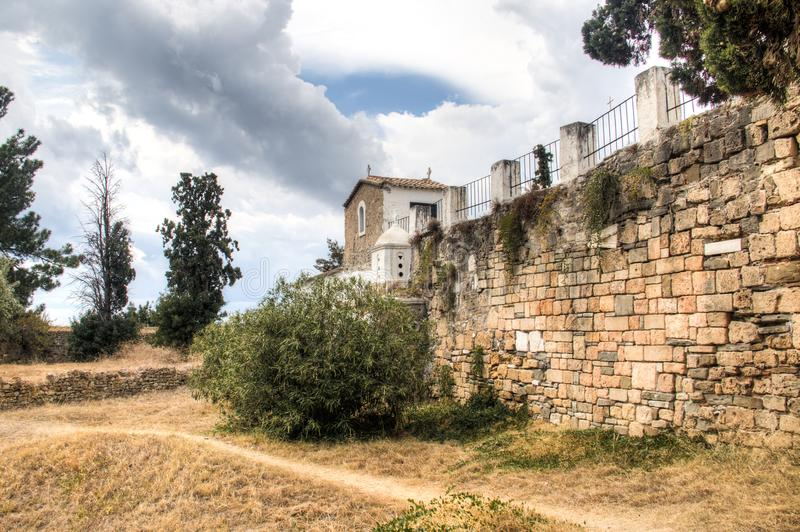 À l'intérieur du château de Koroni, la Grèce image libre de droits