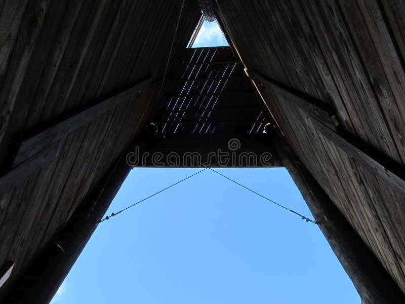 À l'intérieur du chêne Ridge Climbing Tower photos libres de droits