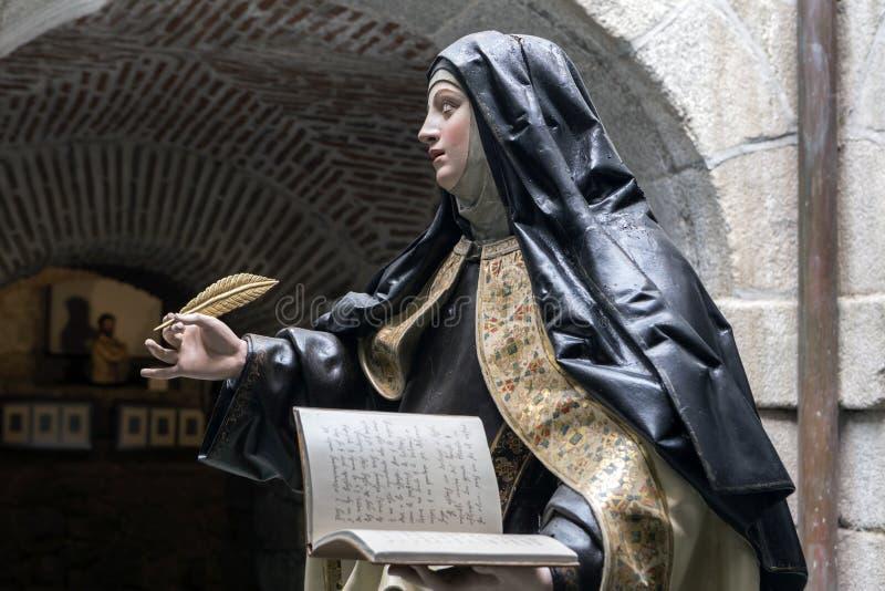 À l'intérieur du couvent de Santa Teresa image libre de droits