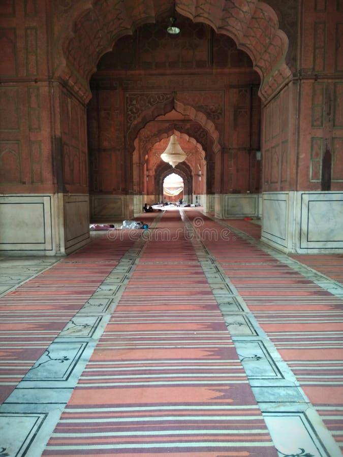 À l'intérieur du masjid de jama photos libres de droits