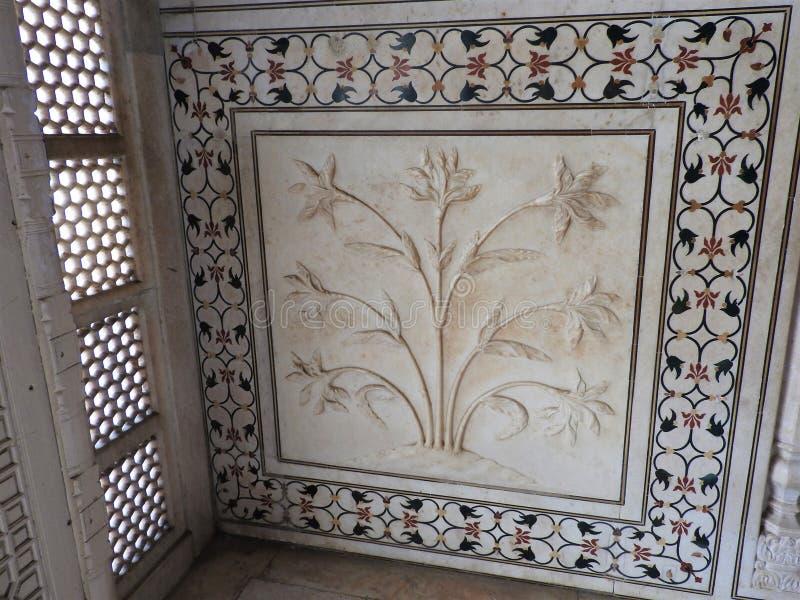 À l'intérieur du mausolée de Taj Mahal à Âgrâ, l'Inde, héritage de l'UNESCO, établi 1632-1653 photographie stock