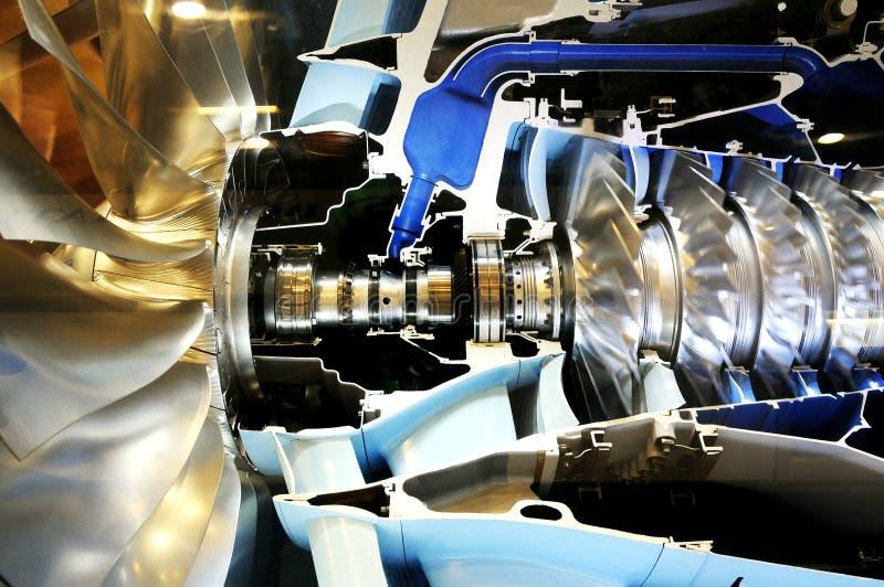 À l'intérieur du monde en métal d'engine de pouvoir images libres de droits