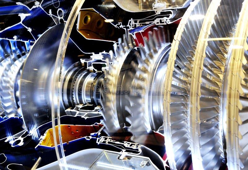 À l'intérieur du monde en métal d'engine de turbo photos libres de droits