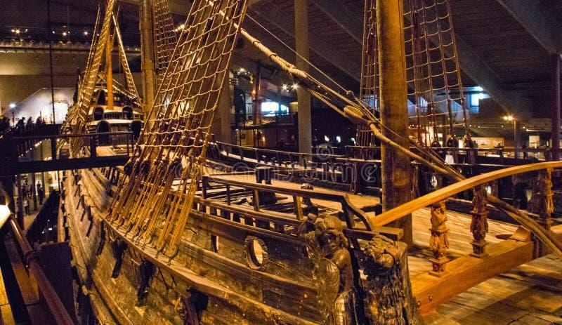 À l'intérieur du musée de Vasa photo libre de droits