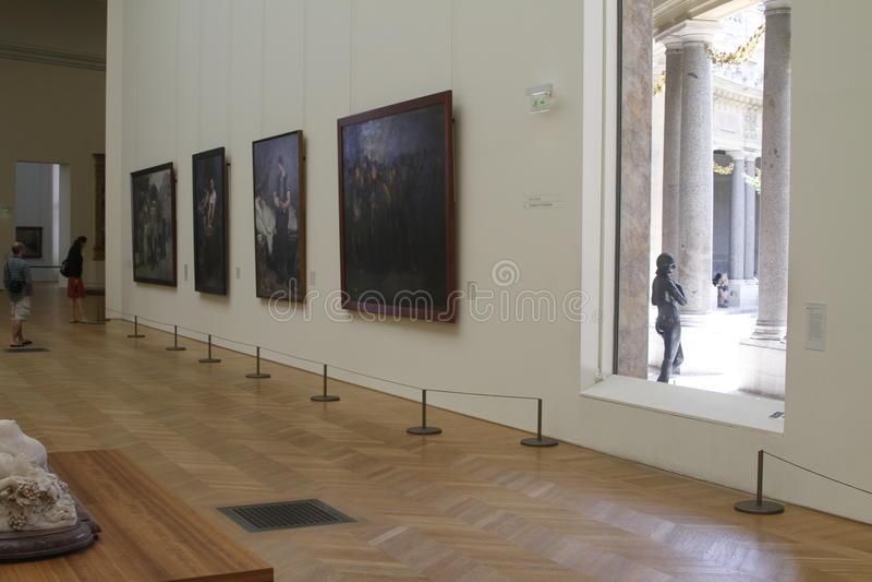 À l'intérieur du musée, Frances de Paris photo libre de droits