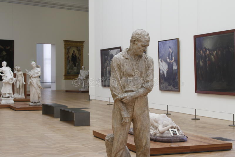À l'intérieur du musée, Frances de Paris images libres de droits