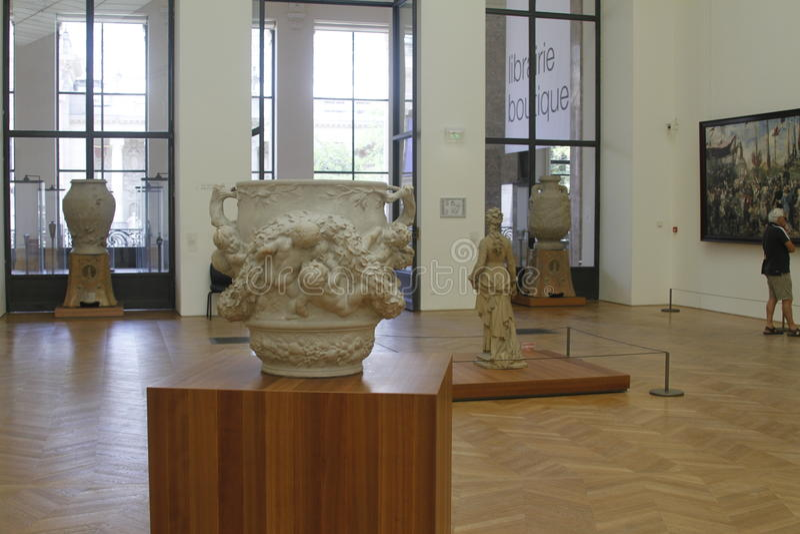 À l'intérieur du musée, Frances de Paris photo stock