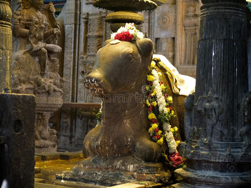 À l'intérieur du temple Madurai de Menakshi photo stock