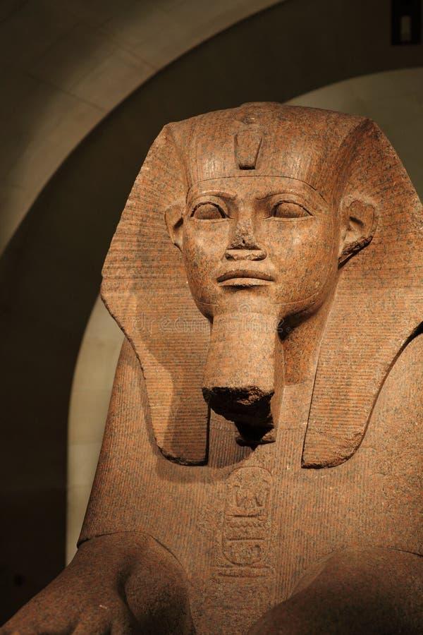 À la crypte du musée d'auvent de sphinx image libre de droits