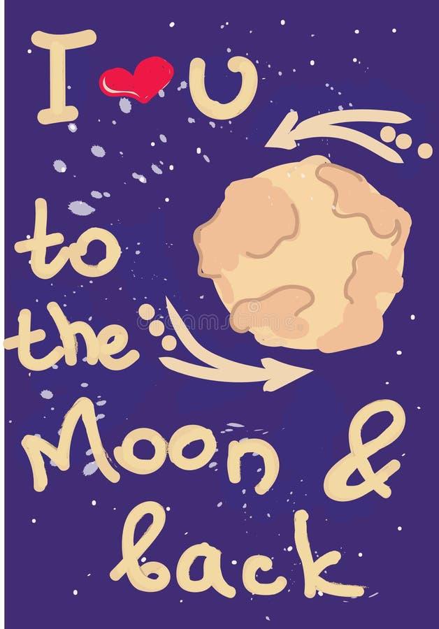 À la lune illustration stock