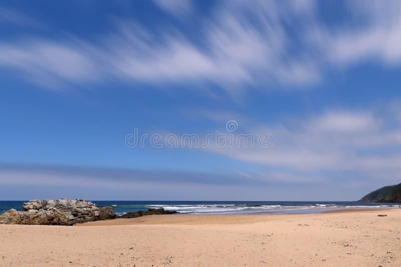 À la plage photo stock