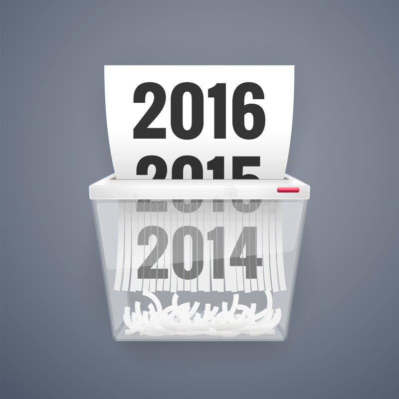 À partir de 2014 à 2016 est coupé en défibreur illustration stock