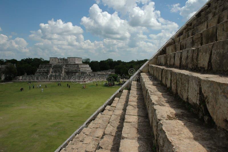 À partir de la pyramide de Chichen Itza image libre de droits