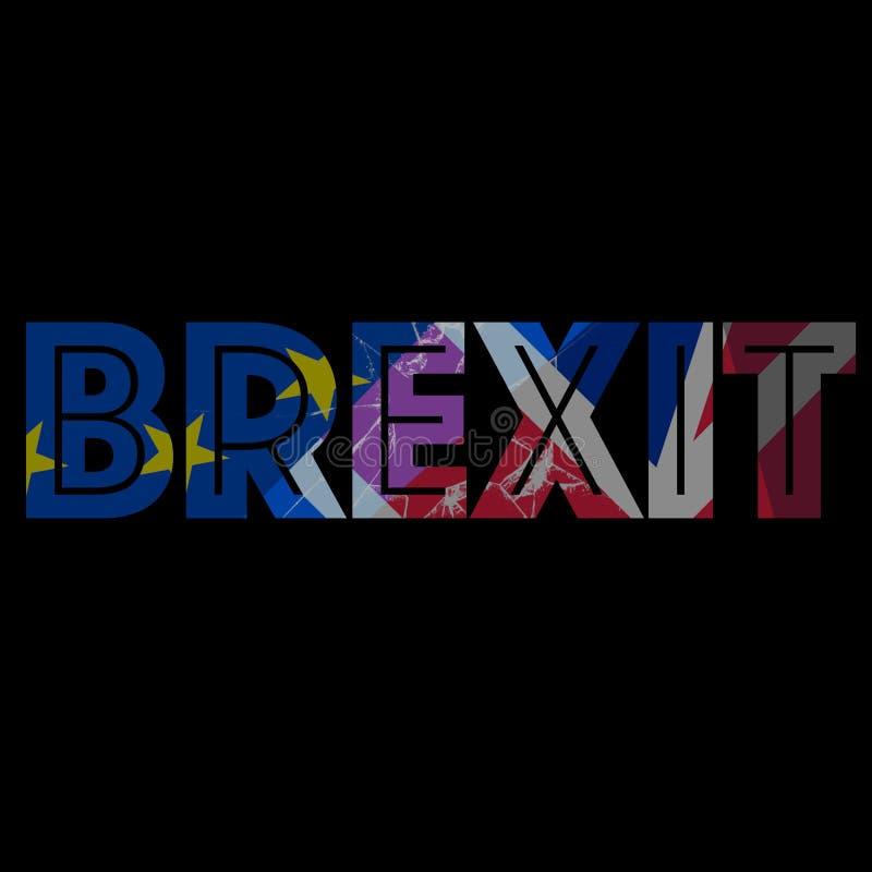 À relations adroites relatives d'image entre l'union de l'Europe et le Royaume-Uni illustration de vecteur