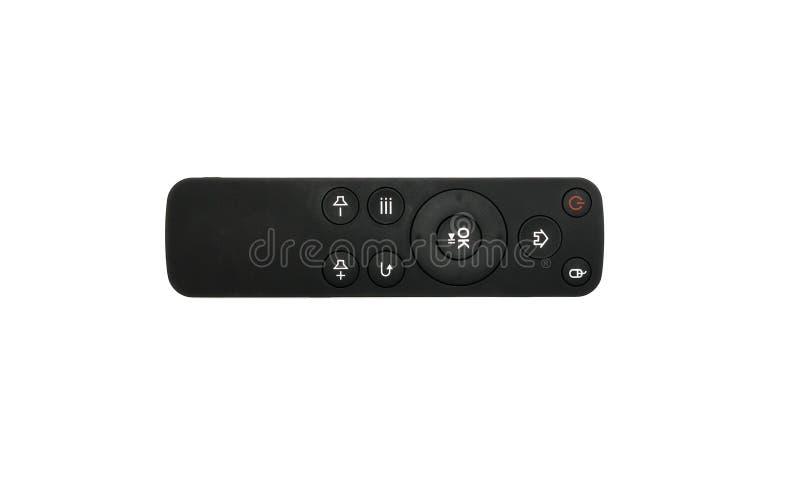 À télécommande de la TV numérique d'isolement sur le fond blanc photographie stock
