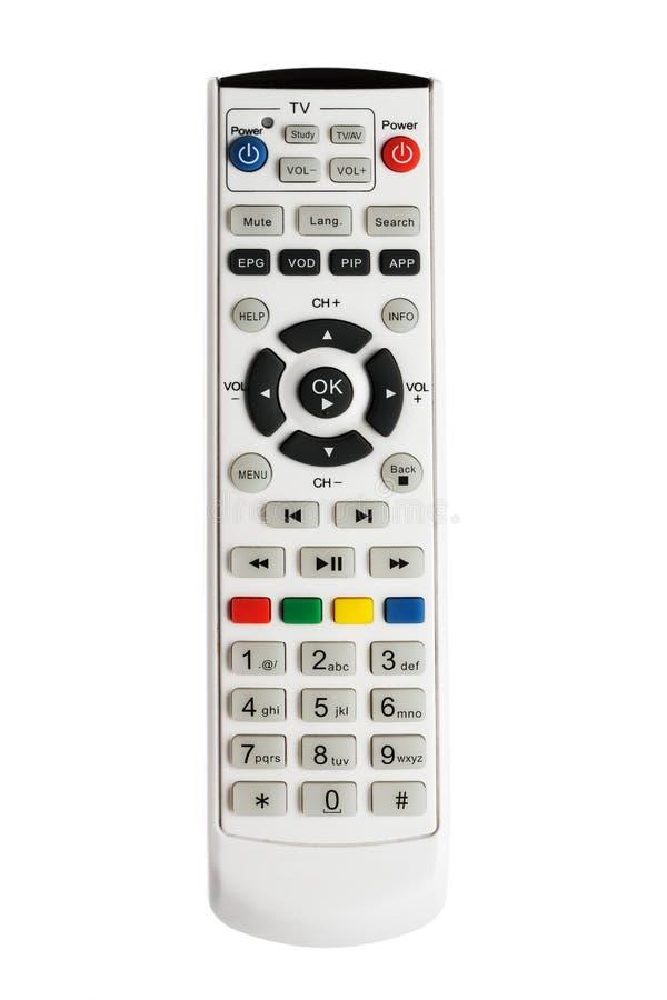 À télécommande de TV d'isolement sur le blanc images libres de droits