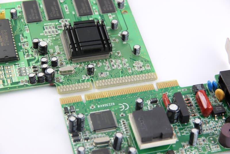 À traitement d'images la carte de matériel informatique. image stock