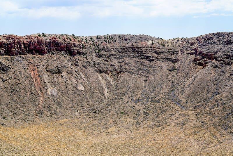 À travers le cratère photo stock