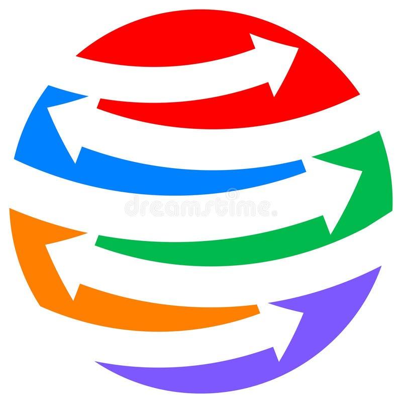 À travers le logo illustration libre de droits