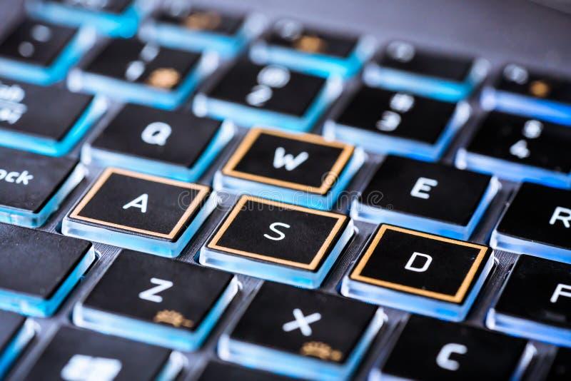 Configuration De Chat Sur La Fin De Clavier D'ordinateur