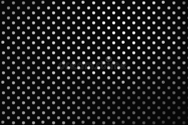 Às bolinhas de prata Shinning, fundo abstrato digital criativo luxuoso do teste padrão da textura Elemento do projeto ilustração stock