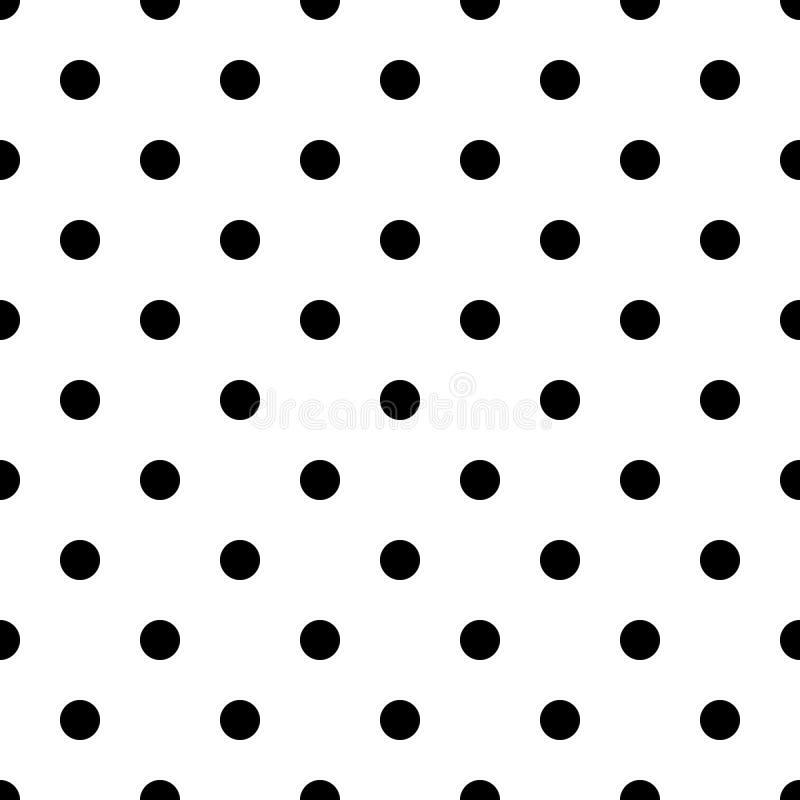 Às bolinhas preto e branco sem emenda Eps 10 ilustração stock