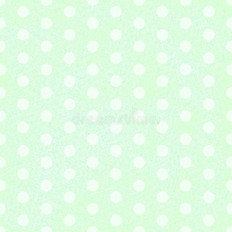 Às bolinhas verde ilustração stock