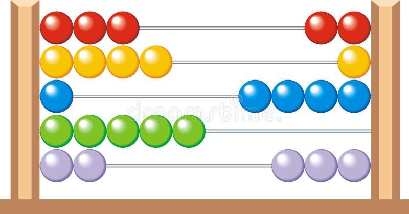 Ábaco (calculadora para miúdos) ilustração do vetor