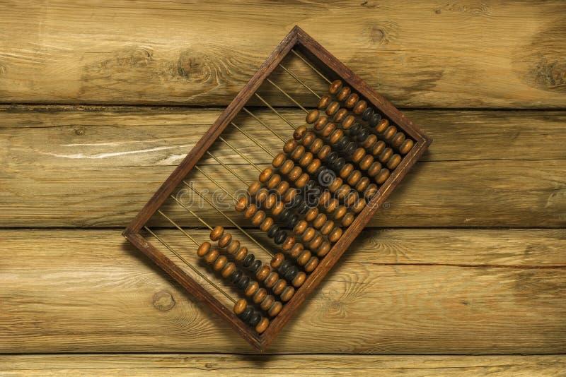 Ábaco de madeira da mão fotos de stock