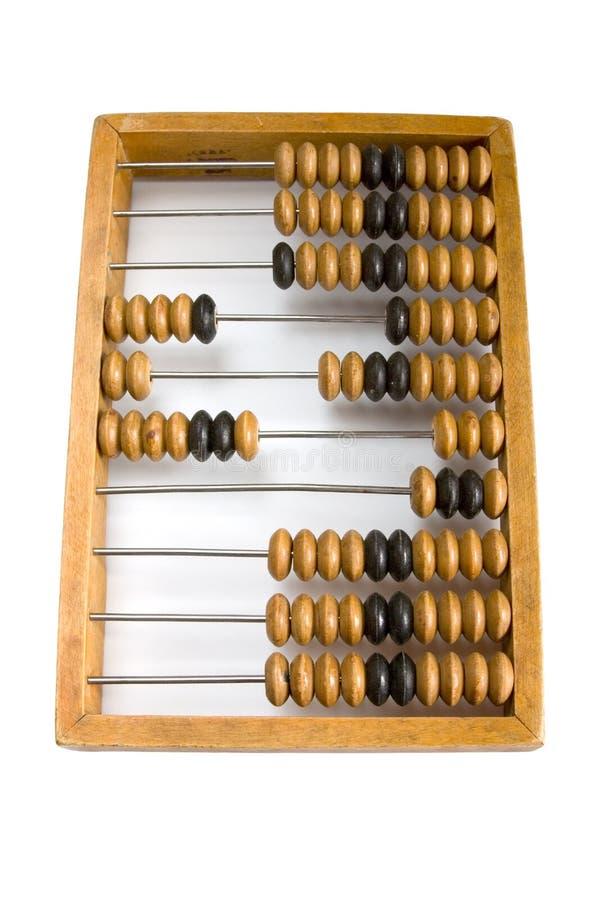 Ábaco de madera viejo. imagen de archivo libre de regalías