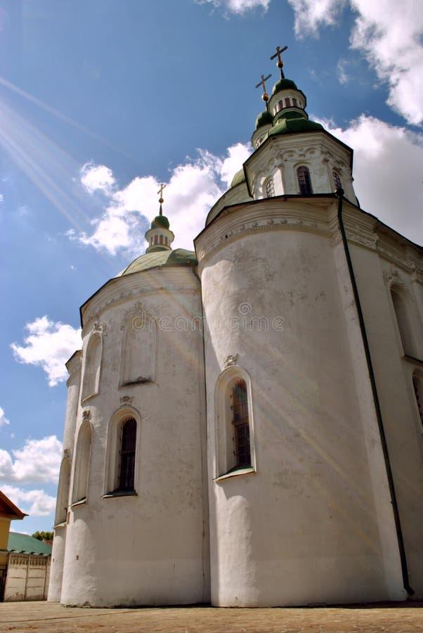 Ábside de la iglesia del St Cyril en Kiev fotografía de archivo