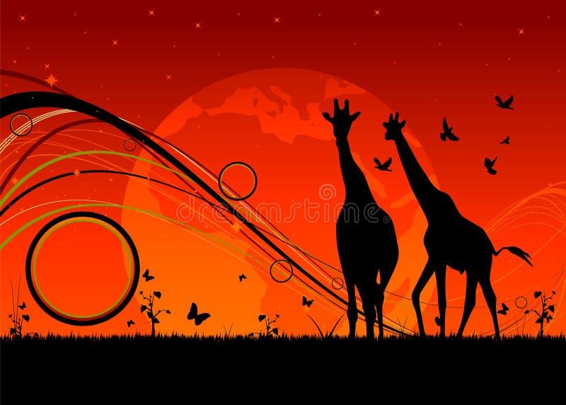 África ilustração stock
